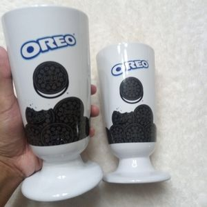 Set of 2 Oreo Cookie Milk Shake/Parfait Glass 18oz